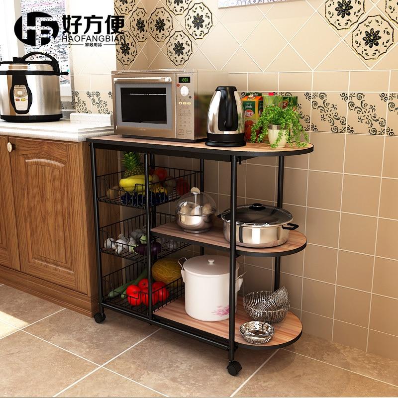 Kitchen Shelf Corner Shelf Microwave Oven Storage Rack