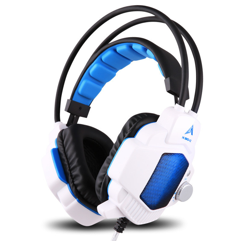 Original Computer Stereo Gaming Headphones OVANN Headband Vibration Game Earphone Headset with Microphone LED Light Headphone
