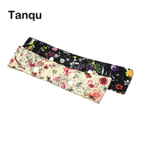 TANQU New Summer Classic Mini Floral PU Trim Thin Decoration For Obag Handbag O Bag Body
