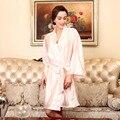 Señoras de dama de Honor Robes de Imitación de Seda de Raso Mujeres Albornoz Albornoz Femenina ropa de Noche de La Novia Vestidos de Noche para Mujer SY058 #10