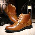 Zapatos de los hombres de otoño e invierno Martin botas de Inglaterra Bullock alta para ayudar a la versión Coreana de las botas zapatos casuales retro A8003