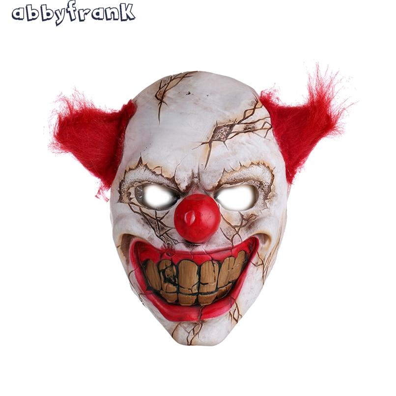 Abbyfrank Palhaco Mascara De Halloween Brinquedos Mascara Cosplay