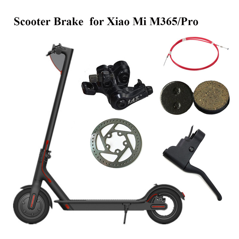 For Millet M365/Pro Brake Lever + Brake Pad + Rear Disc Brake Line + Disc Brake 110mm + Disc Brake Xiaomi Scooter Accessories