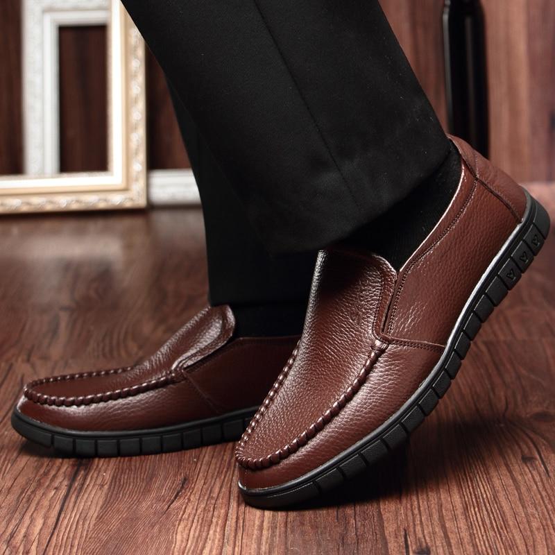 De Marée Nouvelle Respirant Coupe Peau Black Vache 2018 2 Mode Bovins brown En Couche Daim Occasionnel Première Hommes bas Chaussures Sauf xvpAc0qwd