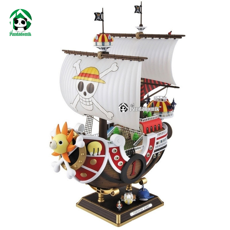 ФОТО One Piece Action Toy Figures Thousand Sunny Ship Assembly Model PVC Anime Action Figures Toy Doll Model Collection Toys Hobbies