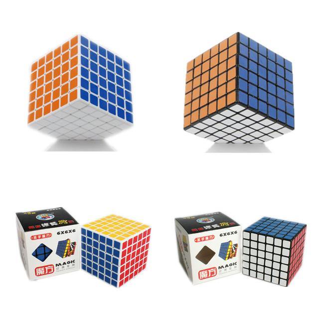 Shengshou 6x6x6 Velocidad Cubo Mágico Rompecabezas Profesional 6*6*6 Cubo Bloques de 68mm Cubo Magico con Brillante/Mate Pegatina Souptoys Regalo
