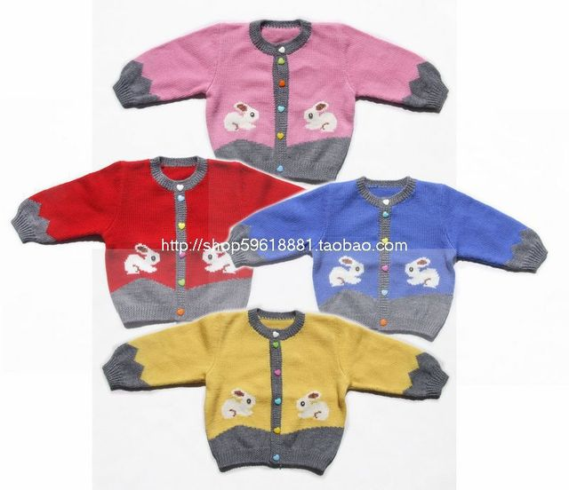 c6f1915a5 Hand Knitted Wool Cardigan Sweater for Baby Girl and boy 6 12 13 18 ...