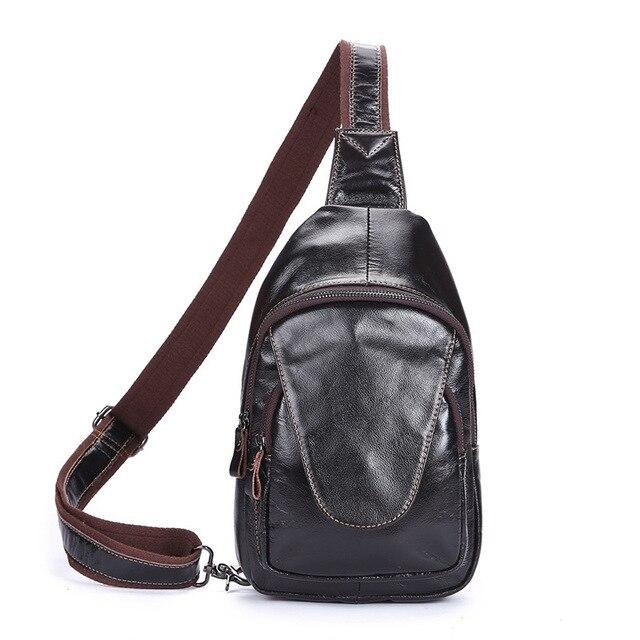 El nuevo cuero de los hombres en el pecho Baotou capa de los hombres de cuero bolso Messenger bag ocio bolso de cera de petróleo