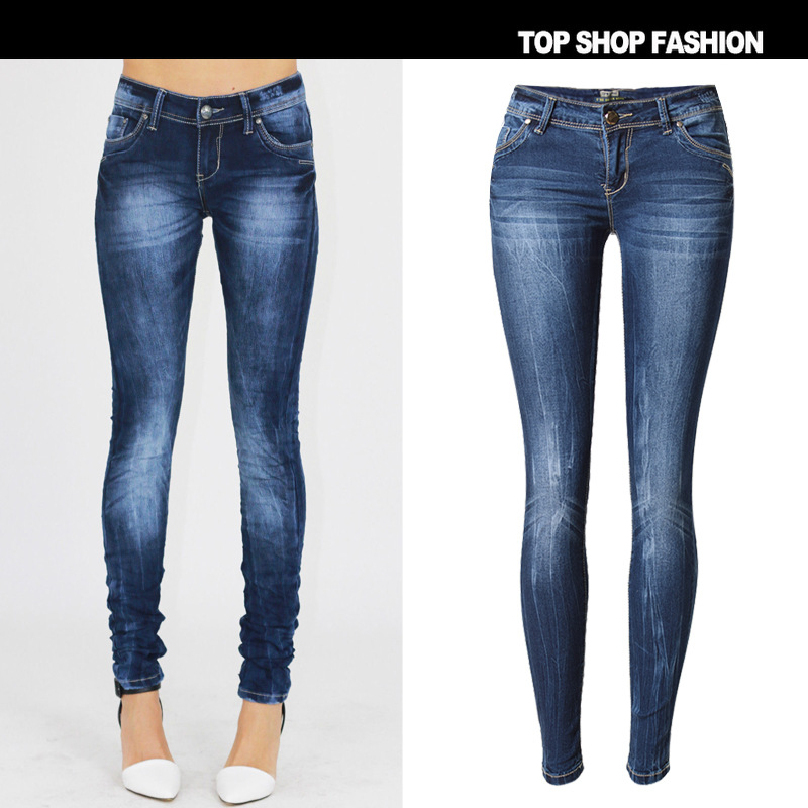 Liva Girl women clothing Bleached lightning washed pure cotton denim pants Female fashion sexy low waist skinny pencil jeans autumn new fashion cotton jeans women loose low waist washed vintage big hole ripped long denim pencil pants casual girl pants