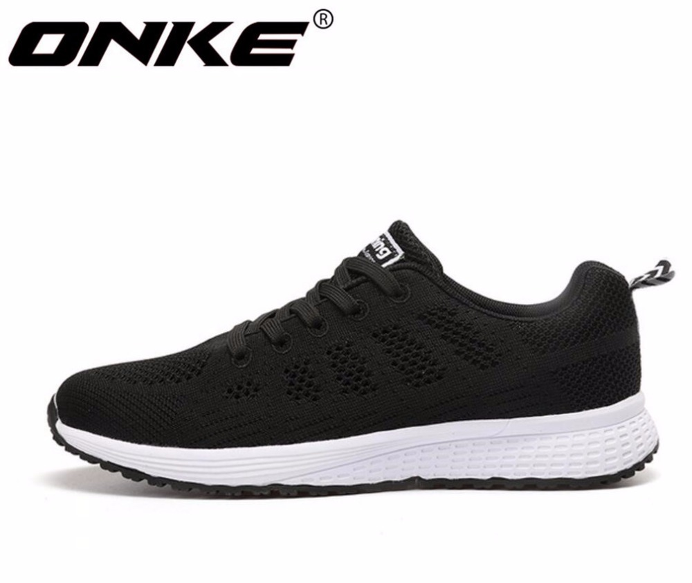 ONKE New listing of Hot sales Summer Breathable Fly line Women & Men running shoes sneakers lovers sports shoes A08-B08