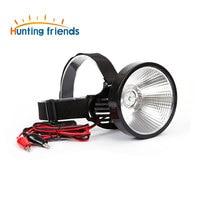 9 24V T6 LED Headlamp External DC Power Headlight Diffused Lighting Large Spot Light Lamp Head Flashlight Touch for Outdoor
