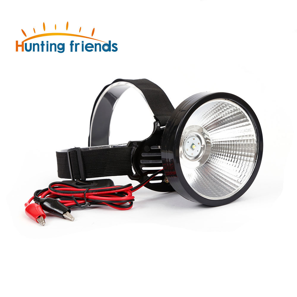 9-24V T6 LED Headlamp External DC Power Headlight Diffused Lighting Large Spot Light Lamp Head Flashlight Touch for Outdoor