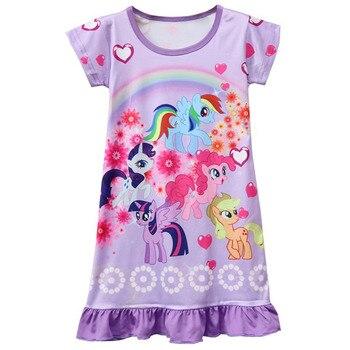 Summer Unicorn Girls Pajamas Dress