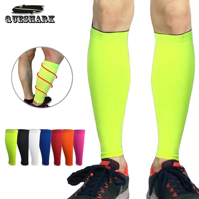 6159377a0d 1Pcs Compression Running Calf Sleeve Support Basketball Cycling Leg Warmers Crossfit  Fitness Sport Knee pads Football Shin Guard