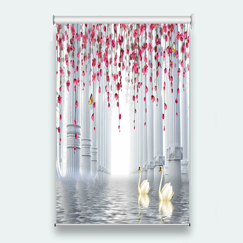 window blinds Sunscreen 3D Roller Blind Pillar water surface Used for Any room decoration roller blinds for windows    window blinds Sunscreen 3D Roller Blind Pillar water surface Used for Any room decoration roller blinds for windows