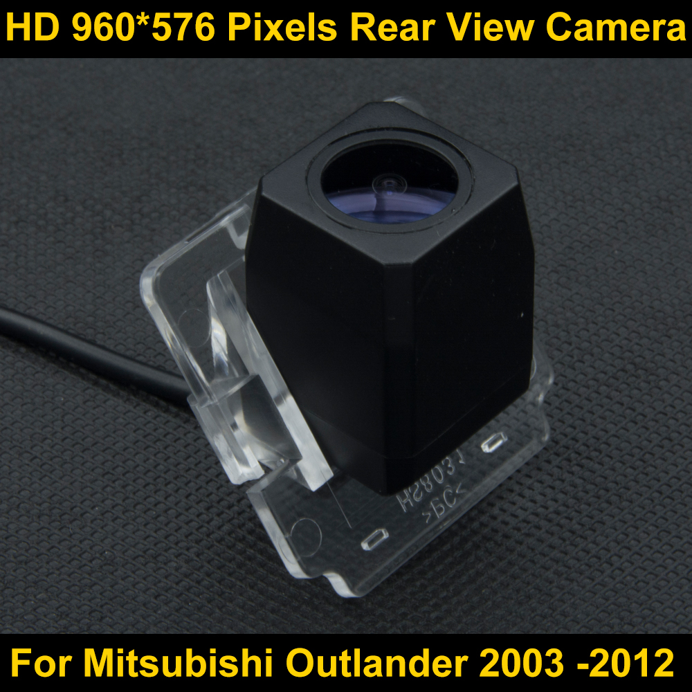 PAL HD 960*576 Pixels Car Parking Rear view Camera For Mitsubishi Outlander 2003 2004 2005 2006 2007 2008 2009 2012 Waterproof