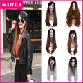 Wholesale!!5pcs/lot Long Hair  Ombre wig Heat Resistant Fiber Synthetic Cosplay Wigs Hair Style