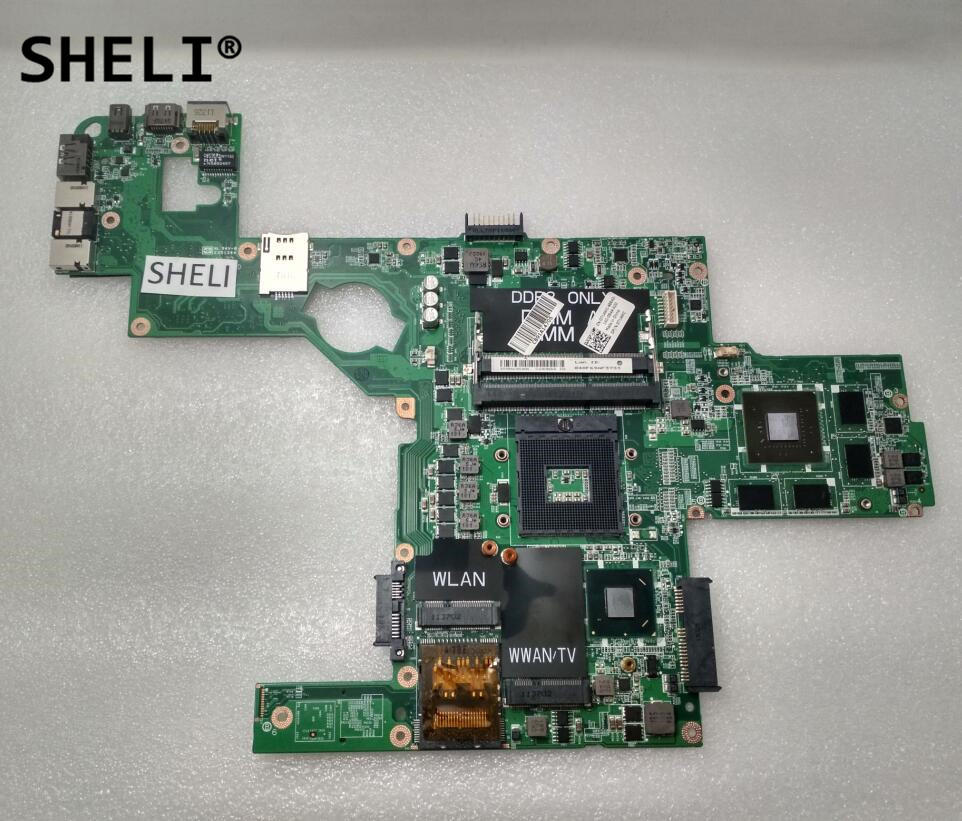 SHELI For Dell L502X Motherboard with GT540M 2G DAGM6CMB8D0 714WC 0714WCCN-0714WC