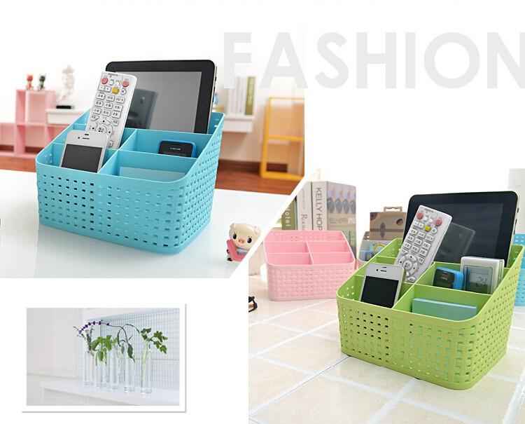 Simple life Desktop sundries pen pencil storage basket organizer vintage container storage basket plastic box storage box 7