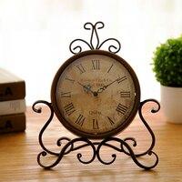 Vintage Iron Desk Clock Decorative Kitchen Table Clock Factory Direct