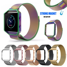 Milanese Stainless Steel Magnetic Loop Replace Strap For Fitbit Blaze Tracker Replacement Watch Band for Fitbit Blaze Tracker