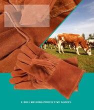Leather Abrasion Safety Working Protective Leather Welding Gloves Welder Gloves ebull-gloves 13″ (33CM )