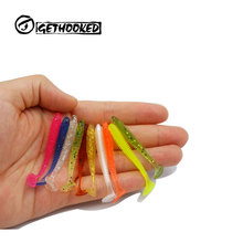 Pesca Artificial Lure 20 100pcs 0 6g 4 5 5cm for Shad UL Fishing Worm Swimbait