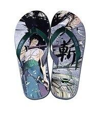 Free Shipping Cartoon Animation One Piece Roronoa Zoro Summer Style Flip Flops  Women Men 011