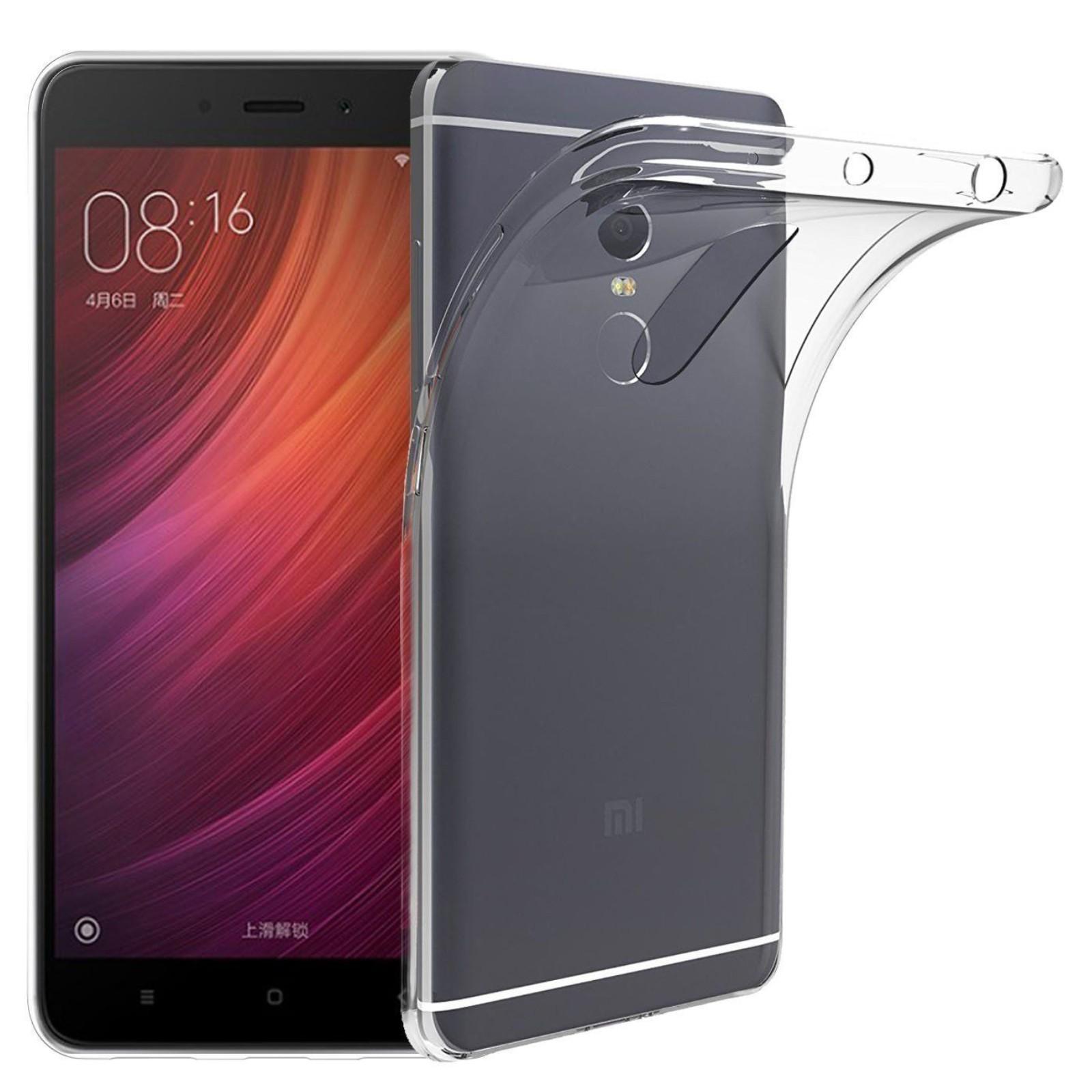 Funda de gel TPU carcasa silicona para Xiaomi Redmi Note 4 Transparente