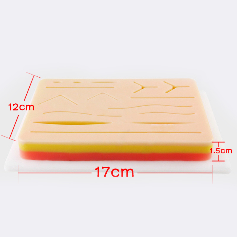 Wound Suture Module with Wound Surgical Skin Suture Practice Silicone Pad Suture Module Simulates Operating Equipment LPF007Wound Suture Module with Wound Surgical Skin Suture Practice Silicone Pad Suture Module Simulates Operating Equipment LPF007