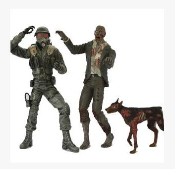 NECA Resident Evil HUNK Zombie with Dogs 7 PVC Action Figure Collectible Model Toy neca rocky iii rocky balboa clubber lang 40th anniversary pvc action figure collectible model toy 7 18cm
