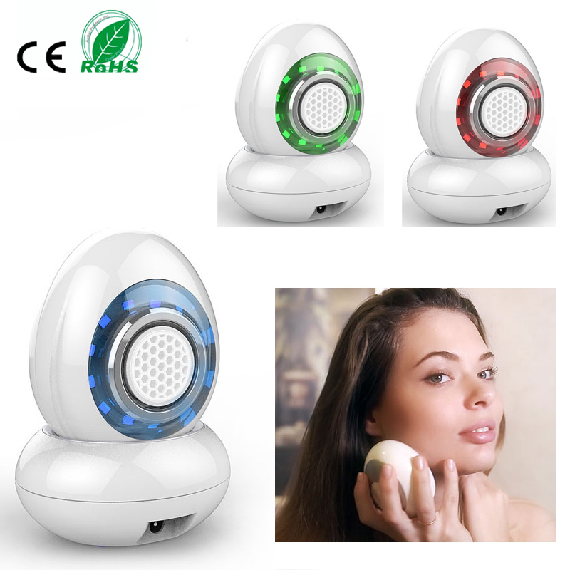 High Frequecy Vibration RF Radio Frequency 3 Colors Led Photon Rejuvenation Skin Whitening Face Lifting  Beauty Massager Machine mini bipoar rf radio frequency ultrasonic vibration photon tender skin rejuvenation anti aging face body beauty massager