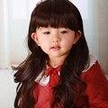 Младенцы и дети детские парики длинные вьющиеся волосы волнистые парики из синтетических волос милый парень парик аккуратные взрыва прекрасные фотографии фотографии