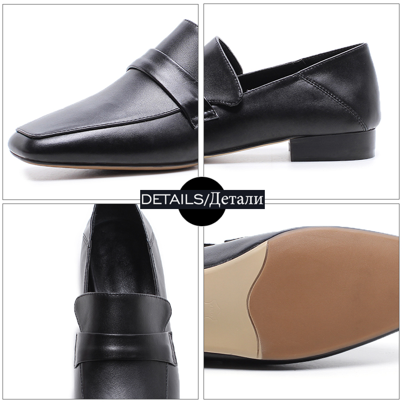 Donna Moda Spring Wetkiss vera pelle Nera Shoes in Casual Donna albicocca Square Toe 2019 Mocassini Flats Muli New 1wHqE8wv