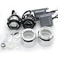 HD объектив 2 шт. автомобиля светодиодный фар H7 H4 35 Вт 4800lm 5500 К высокий низкий пучок автомобиль Стайлинг Bi светодиодный объектив проектора фар