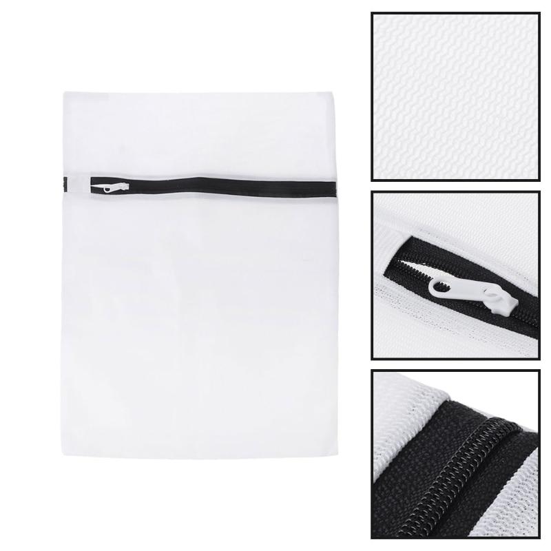 5Pcs Set Fine Mesh Laundry Bag With Zipper For Underwear Bra Socks Baby Clothing Mesh Bag