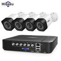 Hiseeu 4CH камера видеонаблюдения Система 2MP 1MP IR-Cut наружная камера система видеонаблюдения комплект Электронная почта оповещение приложение д...