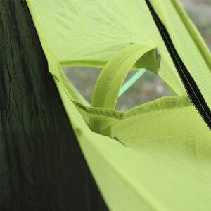 Image 3 - 780g solo 15D nlyon doppi lati olio di silicone impermeabile singola persona peso Leggero tenda da campeggio per il campeggio, trekking