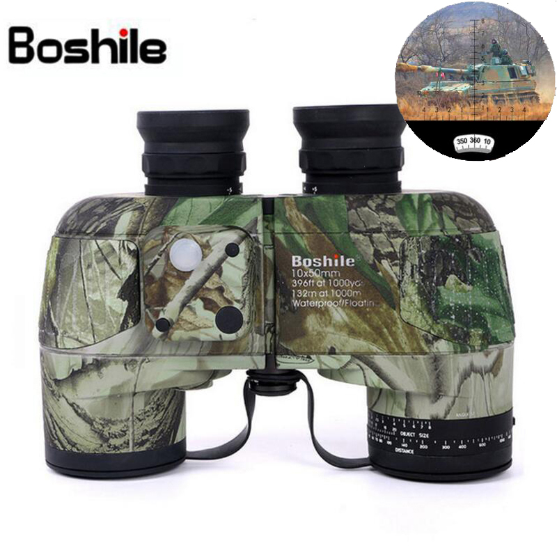Boshile Binoculars 10x50 Professional Marine Binocular Waterproof With Compass Military Telescope High power Lll night vision