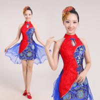 Dance Costumes Real Water Drum Costumes Female 2017 New Chinese Style Classical Dance Clothing Stage Instrument Play Clothes