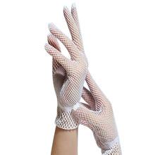 Damskie letnie odporne na promieniowanie UV rękawiczki do jazdy siatkowe rękawiczki kabaretki siatka nylonowa solidne cienkie letnie rękawiczki damskie rękawiczki damskie rękawiczki damskie tanie tanio Womail Dla dorosłych Kobiety Moda Nadgarstek Stałe glove Gloves Gants Handschuhe Guantes Luvas gloves women gloves winter