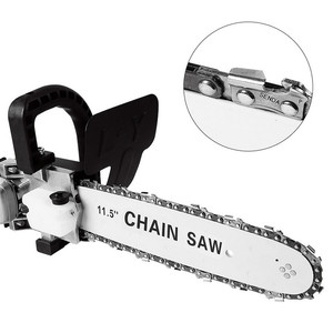 Image 5 - FNICEL 11.5 Inch M10/M14/M16 Chainsaw Bracket Changed Upgrade Electric Saw Parts 100 125 150 Angle Grinder Into Chain Saw