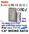 "L kingspec ce fcc rohs, 1.8 Pulgadas 1.8 ""Micro SATA SSD 16 GB de Disco de Estado Sólido Para ordenador Portátil Envío Libre Del Poste de China"