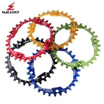 WUZEI אופניים כננת סבבת 30T 104BCD רכיבה על אופניים עגול צר רחב Ultralight 7075-T6 MTB אופני Chainring מעגל Crankset צלחת