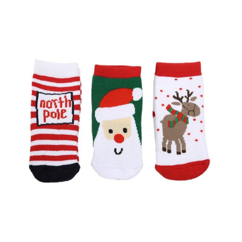 Christmas Baby Socks Cartoon Cute 1 Pair Of Socks For Girls Holiday Christmas Cute Cartoon Baby Boys Girls Socks