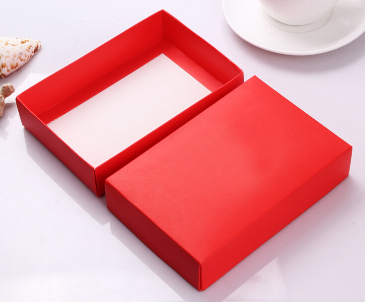 19.5*14.5*4cm 20pieces 6 colors Red Wedding party favor box red gift boxes, Shoes/Scarf/Clothes shipping cardboard box with lid