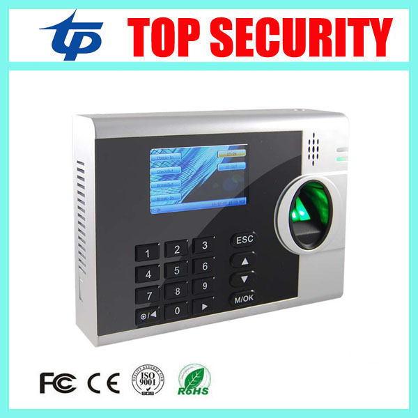Linux systme TCP/IP RJ45 fingerprint time attendance recorder clock optional card reader and external battery time attendance