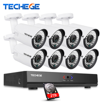 Techege 8CH 1080P HDMI POE NVR CCTV System 960P Outdoor Waterproof IP Camera Home Security Surveillance