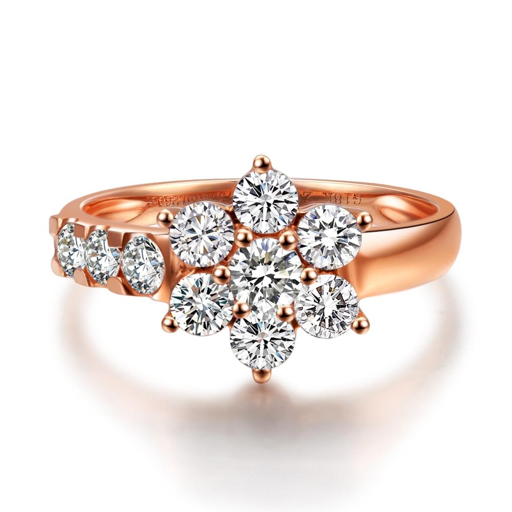 1ct Luxury Diamond Flower Engagement Diamond Ring For Women Gvbori