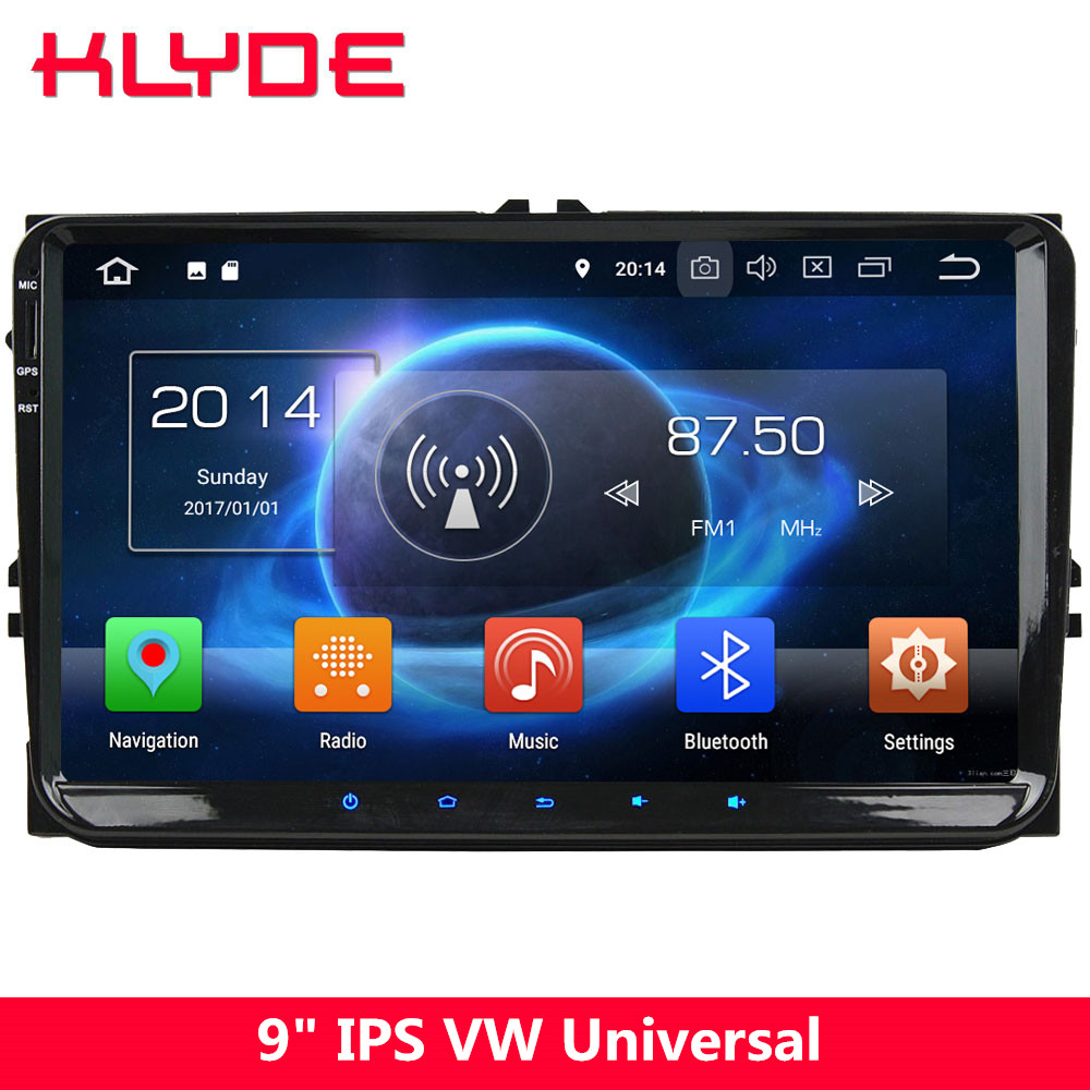 KLYDE 9 4G Octa Core Android 8 4GB 32GB Car DVD Player Stereo Radio For VW